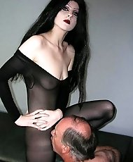 Dark side pantyhose mistress