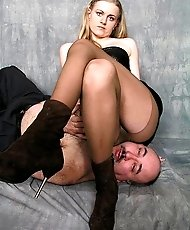 Domme in ankle boots